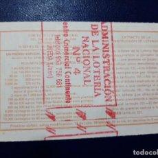 Lotería Nacional: LOTERIA NACIONAL ADMINISTRACIÓN NÚMERO 4 DE UBEDA - JAÉN. Lote 219020090