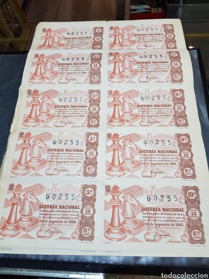 PLIEGO LOTERÍA NACIONAL SORTEO 24 DEL AÑO 1963 AJEDREZ (Coleccionismo - Lotería Nacional)