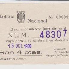 Lotería Nacional: LOTE. 13 PAPELETAS DE LOTERÍA NACIONAL. P. D. BIMBO, POBLA DEL DUC, BUP, PEDREGUER, HIMNO REGIONAL. Lote 219611672