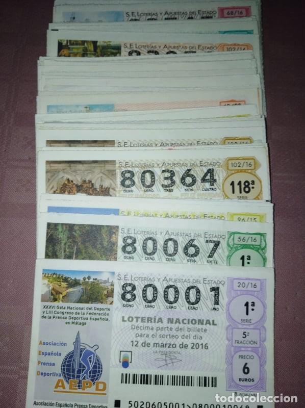 183 DECIMOS DE LOTERIA NACIONAL DE LOS SABADOS DEL 80.000 AL 89.000 (Coleccionismo - Lotería Nacional)
