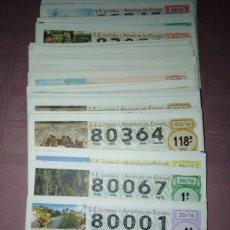 Lotería Nacional: 183 DECIMOS DE LOTERIA NACIONAL DE LOS SABADOS DEL 80.000 AL 89.000. Lote 219717593