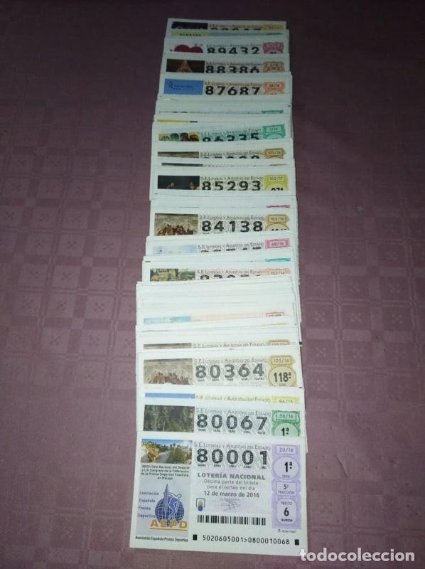 Lotería Nacional: 183 decimos de loteria nacional de los sabados del 80.000 al 89.000 - Foto 3 - 219717593