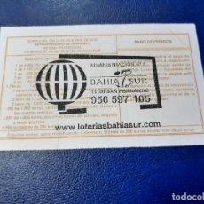 Loterie Nationale: LOTERIA NACIONAL ADMINISTRACION DE LOTERÍAS NÚMERO 9 DE SAN FERNANDO CADIZ. Lote 220287231