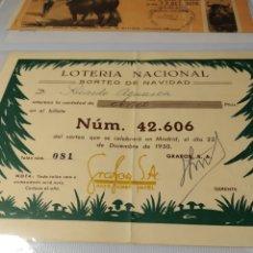 Lotería Nacional: PARTICIPACIÓN LOTERÍA GRAFOS, SA 1950. Lote 220603766