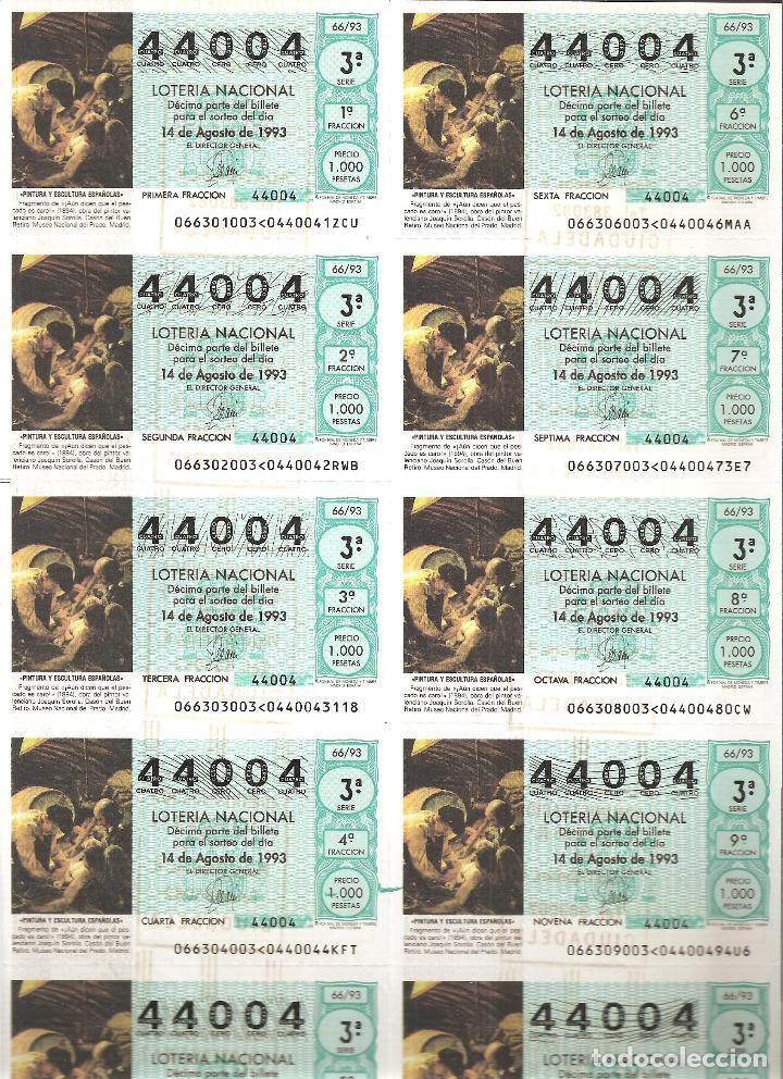 1993 BILLETE LOTERÍA NACIONAL SORTEO Nº 66 (Coleccionismo - Lotería Nacional)