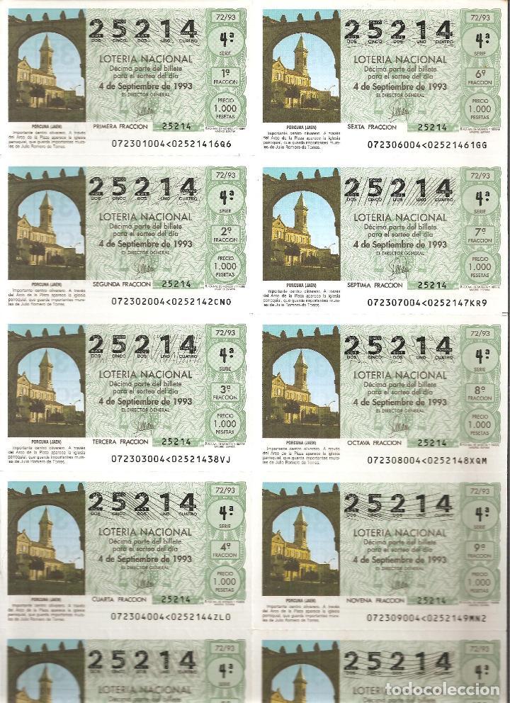 1993 BILLETE LOTERÍA NACIONAL SORTEO Nº 72 (Coleccionismo - Lotería Nacional)