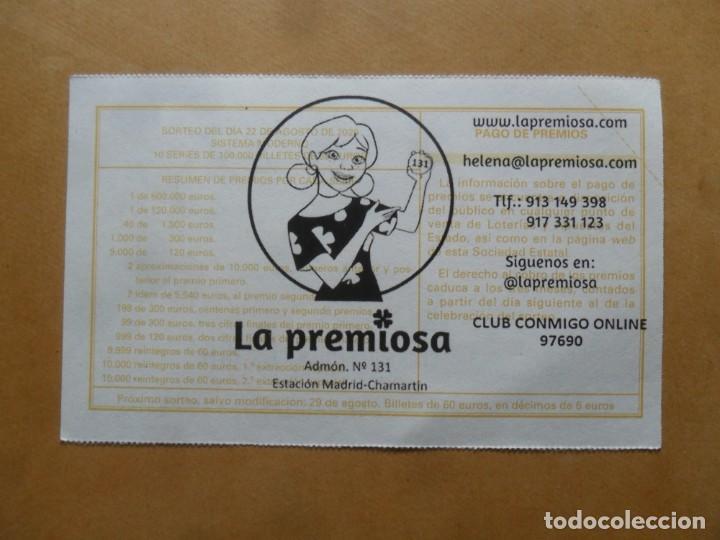 Lotería Nacional: DECIMO - Nº 21627 - 22 AGOSTO 2020 - 44/20 - MINISTERIO DE TRABAJO Y ECONOMIA SOCIAL - Foto 2 - 220947916