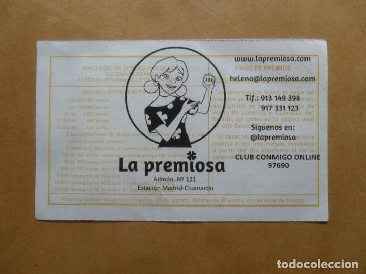 Lotería Nacional: DECIMO - Nº 21627 - 22 AGOSTO 2020 - 44/20 - MINISTERIO DE TRABAJO Y ECONOMIA SOCIAL - Foto 2 - 220947940