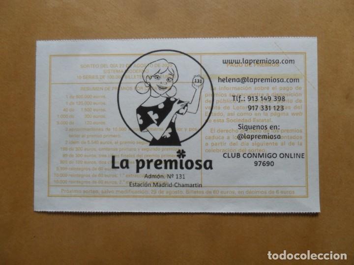 Lotería Nacional: DECIMO - Nº 69615 - 22 AGOSTO 2020 - 44/20 - MINISTERIO DE TRABAJO Y ECONOMIA SOCIAL - Foto 2 - 220957577