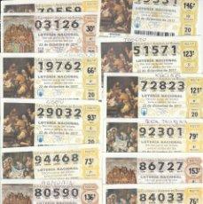 Lotería Nacional: LOTE DE 30 DÉCIMOS DE LOTERÍA ( LEER DESCRIPCIÓN,ENVÍO , ETC). Lote 221117391