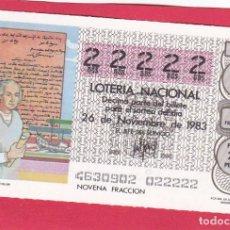 Loterie Nationale: LOTERIA AÑO 1983 SORTEO 46 CINCO 22222 DOSES. Lote 221557063