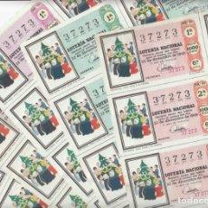 Lotería Nacional: LOTERIA NACIONAL 6 HOJAS ENTERAS DEL NÚMERO CAPICUA 37273 DEL 22 DE DICIEMBRE DE 1969 - VER FOTOS-. Lote 222021890