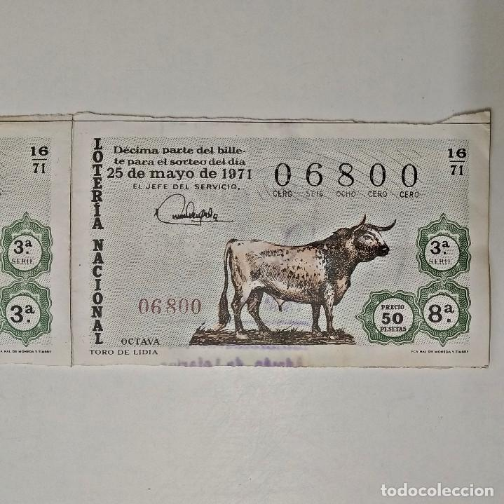 LOTERÍA NACIONAL. 1971 / 16. DOS DÉCIMOS JUNTOS DE LA SERIE 3ª DEL 06800. (Coleccionismo - Lotería Nacional)
