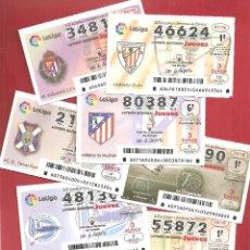 Lotería Nacional: DÉCIMOS LOTERIA TEMA LA LIGA CON SUS ESCUDOS. Lote 222464810