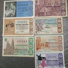 Lotería Nacional: 7 DÉCIMOS DEL SORTEO 36 DE NAVIDAD (AÑOS:1960 A 1966). Lote 222628796