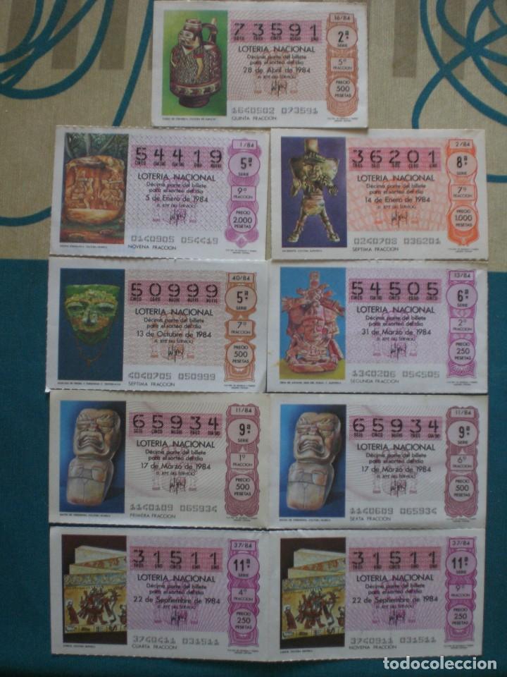 Lotería Nacional: 27 DECIMOS DE LOTERIA NACIONAL AÑO 1984 - Foto 3 - 222654303