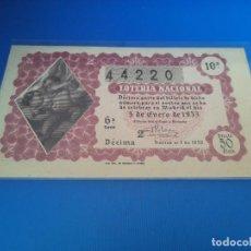 Lotteria Nationale Spagnola: LOTERIA 1953 SORTEO 1. Lote 222970713