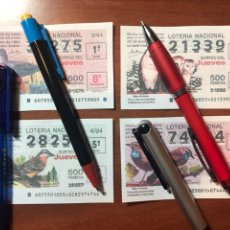 Lotaria Nacional: ÚNICOS !!! NUNCA VISTOS ANTES SON FOTOCOPIAS,NO SORTEADOS,1994 SORTEOS 2,4,6,8 DE LOS JUEVES. Lote 223059545