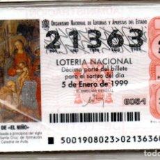 Lotería Nacional: LOTERÍA NACIONAL DEL AÑO 1999 - AÑO COMPLETO -. Lote 223372378