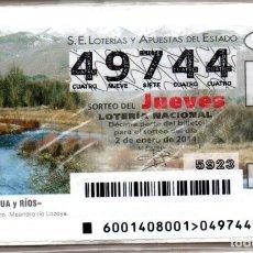 Lotería Nacional: LOTERÍA NACIONAL DEL JUEVES - AÑO 2014 - AÑO COMPLETO -. Lote 223372577