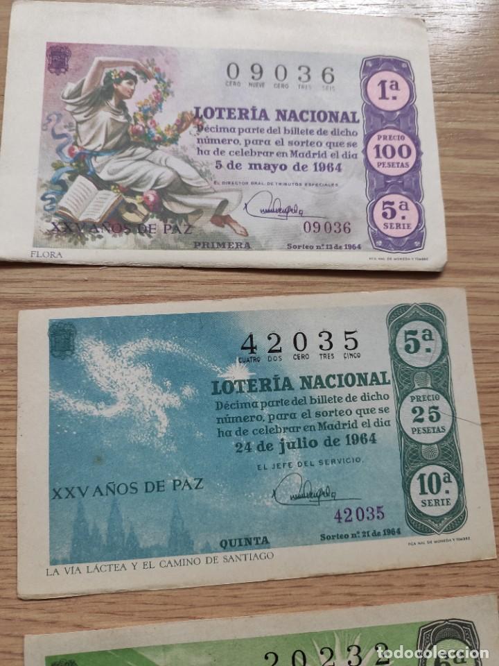 Lotería Nacional: 9 DECIMOS DE DIFERENTES MESES Y ADMINISTRACIÓN DE LOTERIA 1964 - Foto 4 - 224333963