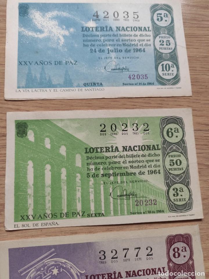 Lotería Nacional: 9 DECIMOS DE DIFERENTES MESES Y ADMINISTRACIÓN DE LOTERIA 1964 - Foto 5 - 224333963