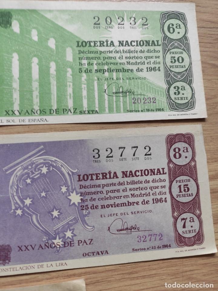 Lotería Nacional: 9 DECIMOS DE DIFERENTES MESES Y ADMINISTRACIÓN DE LOTERIA 1964 - Foto 6 - 224333963