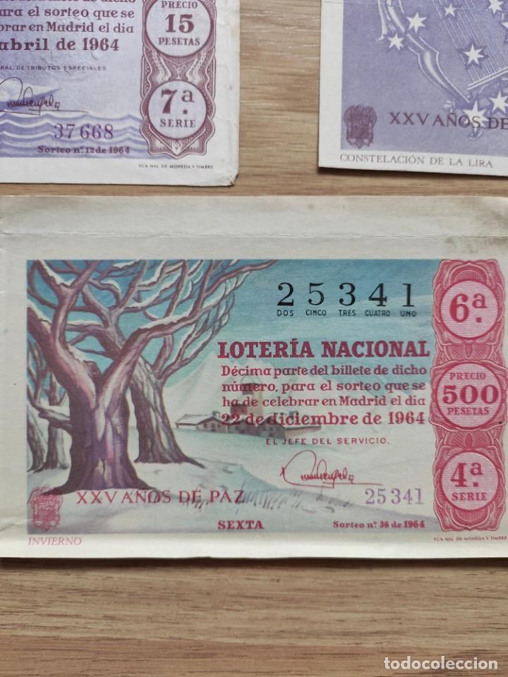 Lotería Nacional: 9 DECIMOS DE DIFERENTES MESES Y ADMINISTRACIÓN DE LOTERIA 1964 - Foto 7 - 224333963