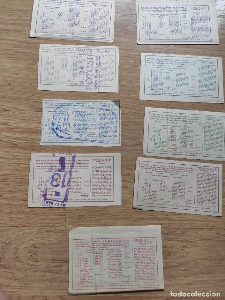 Lotería Nacional: 9 DECIMOS DE DIFERENTES MESES Y ADMINISTRACIÓN DE LOTERIA 1964 - Foto 8 - 224333963