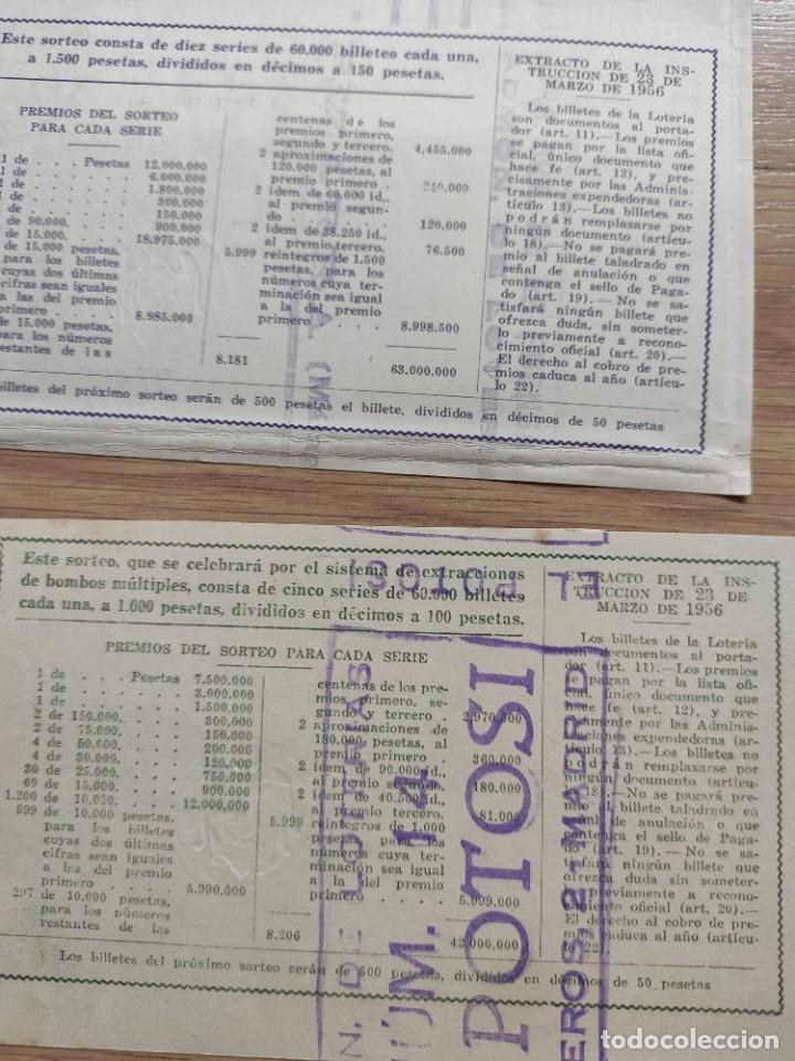 Lotería Nacional: 9 DECIMOS DE DIFERENTES MESES Y ADMINISTRACIÓN DE LOTERIA 1964 - Foto 9 - 224333963
