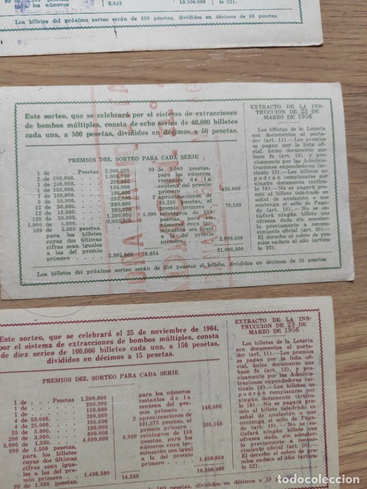 Lotería Nacional: 9 DECIMOS DE DIFERENTES MESES Y ADMINISTRACIÓN DE LOTERIA 1964 - Foto 10 - 224333963