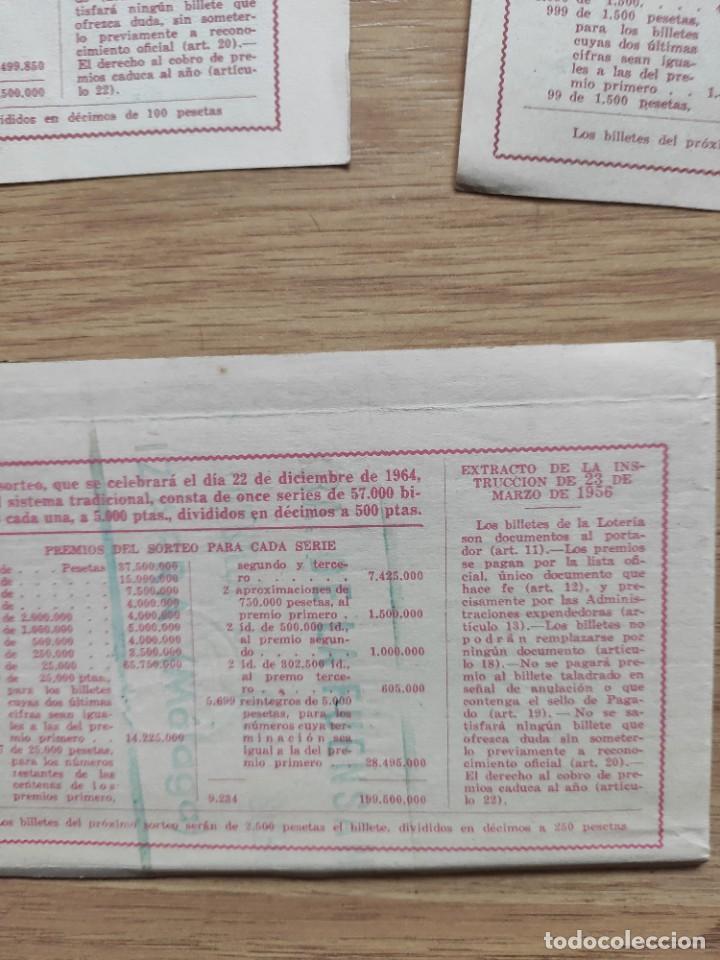 Lotería Nacional: 9 DECIMOS DE DIFERENTES MESES Y ADMINISTRACIÓN DE LOTERIA 1964 - Foto 13 - 224333963
