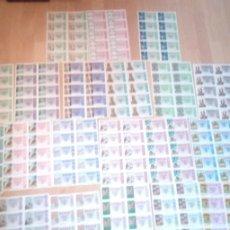 Lotería Nacional: LOTE DE 20 PLIEGOS CON 10 DECIMOS CADA UNO DE LOTERIA NACIONAL DESDE 1975 A 1992. Lote 227193910