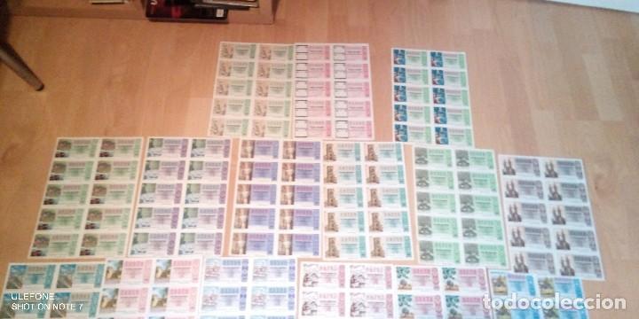 Lotería Nacional: lote de 20 pliegos con 10 decimos cada uno de loteria nacional desde 1975 a 1992 - Foto 2 - 227193910