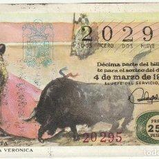 Lotería Nacional: DECIMO SORTEO Nº 1 DE 1971 LANCE DE VERONICA SERIE 1 FRACCION 6. Lote 232231400