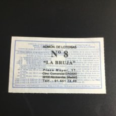 Loterie Nationale: DECIMO LOTERÍA 2001 SORTEO 34/01 ADMINISTRACIÓN ALCOBENDAS (MADRID) 8. Lote 233434790