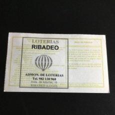 Lotería Nacional: DECIMO LOTERÍA 2014 SORTEO 8/14 ADMINISTRACION RIBADEO (LUGO) 1. Lote 232795230