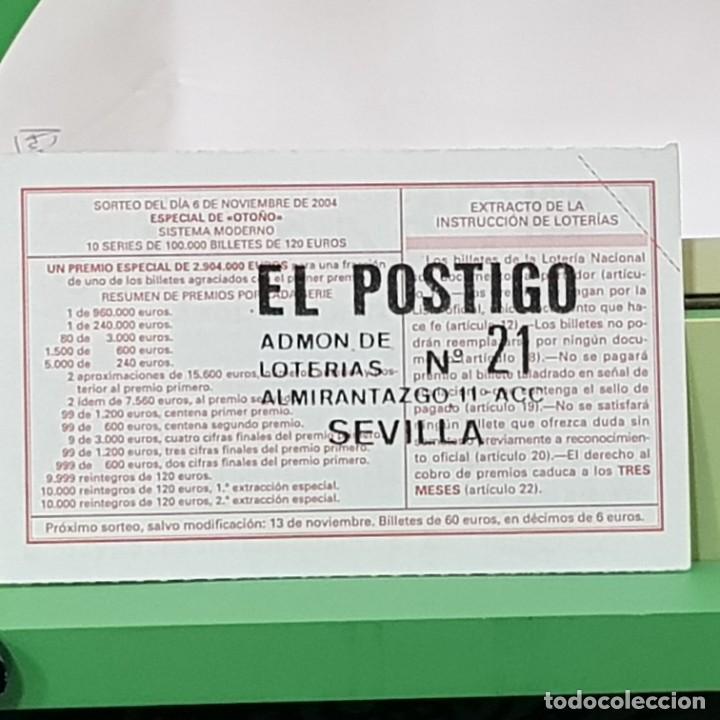 Lotería Nacional: LOTERÍA NACIONAL, SORTEO 90/04, 6 NOVIEMBRE 2004, AGRUPACIÓ MUSICAL SENIENCA, TARRAGONA, Nº 24138 - Foto 2 - 234896855
