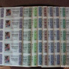 Lotería Nacional: COLECCION LOTERIA NACIONAL COMPLETA DE 1975, EN PLIEGOS DE 10 DECIMOS SON UN TOTAL DE 490 DECIMOS. Lote 235196130