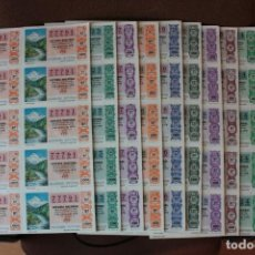 Lotería Nacional: COLECCION LOTERIA NACIONAL COMPLETA DE 1978, EN PLIEGOS DE 10 DECIMOS SON UN TOTAL DE 490 DECIMOS. Lote 235196615