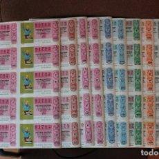 Lotería Nacional: COLECCION LOTERIA NACIONAL COMPLETA DE 1981, EN PLIEGOS DE 10 DECIMOS SON UN TOTAL DE 500 DECIMOS. Lote 235197865