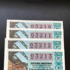 Lotería Nacional: DECIMO LOTERÍA 1979 SORTEO 35/79 NÚMEROS CORRELATIVOS. Lote 235469505