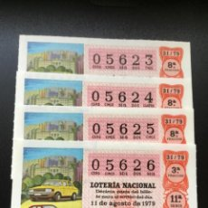 Lotería Nacional: DECIMO LOTERÍA 1979 SORTEO 31/79 NÚMEROS CORRELATIVOS. Lote 235469820