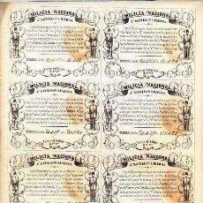 Lotería Nacional: MILICIA NACIONAL. 4º BATALLÓN LIGEROS. PARA UNIFORMAR A LA TROPA, SE RIFAN 4 CUADROS DE LA CAZA 1854. Lote 235733960