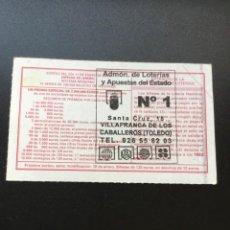 Lotería Nacional: DECIMO LOTERÍA 2003 SORTEO 4/03 ADMINISTRACION VILLAFRANCA DE LOS CABALLEROS (TOLEDO) 1. Lote 235946470