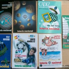 Lotaria Nacional: LOTE 7 POSTALES CARTELES LOTERIA NACIONAL. Lote 236236785