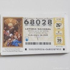 Lotteria Nationale Spagnola: LOTERÍA NACIONAL, AÑO 2020 COMPLETO, SORTEO SÁBADOS, MUY BUEN ESTADO. Lote 236938405