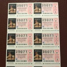 Lotería Nacional: LOTERIA AÑO 2020 SORTEO 36 BILLETE COMPLETO. Lote 237262565