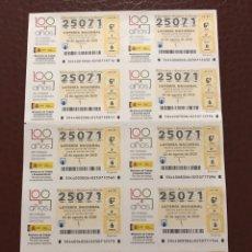 Lotería Nacional: LOTERIA AÑO 2020 SORTEO 44 BILLETE COMPLETO. Lote 237264610