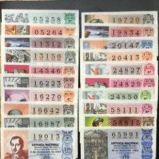 Lotería Nacional: DECIMO LOTERÍA VARIOS AÑOS (20 DECIMOS) LOTE 81. Lote 237329885
